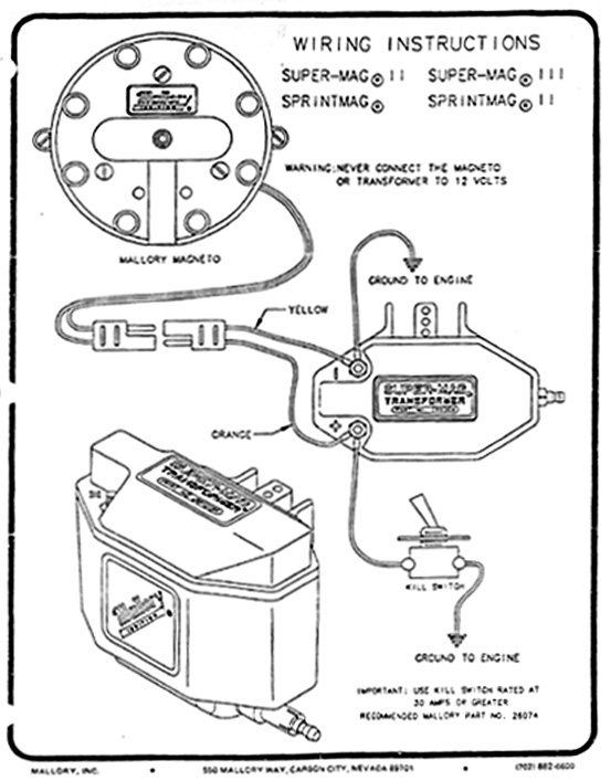 MagWiringInsts magnetos mallory coil wiring diagram at bakdesigns.co